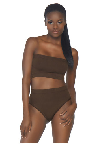Leg Avenue Seamless bandeau top brief