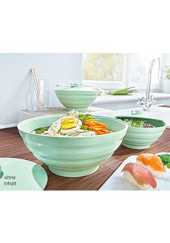 Neckermann Bol à nouilles - set - 3 pièces - vert