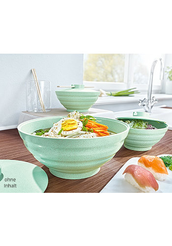 Neckermann Noodle bowl - set - 3 delig - groen