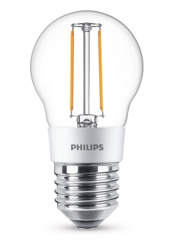 Philips E27 LED-kogellamp 3w (25w) dimbaar - warm wit