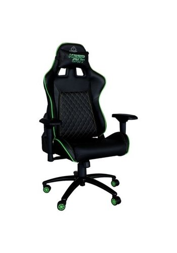 KEEP OUT GREEN GAMER CHAIR - METAL BASE - HEIGHT ADJUSTMENT - REAR ANGLE ADJUSTMENT - 4D ARMRESTS - GAS CYLINDER CLASS 4