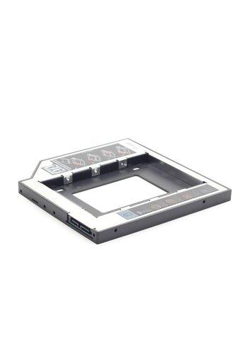Gembird Platzsparender Montagerahmen für 2,5' Laufwerke auf 5,25', 12 mm