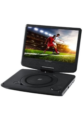 Denver Electronics Tragbarer DVD-Player - 9 Zoll - Schwarz