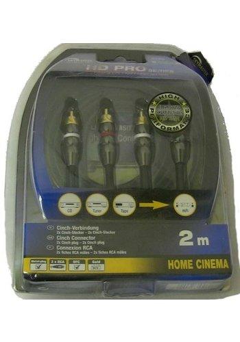 Neckermann Cinch kabel - 2x tulp naar 2x tulp - 2m