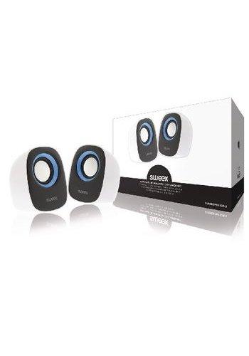 Sweex Haut-parleur 2.0 Filaire 4 W Blanc / Bleu