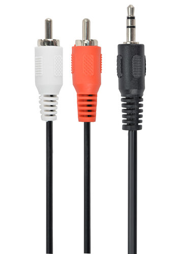 Cablexpert 3,5 mm Klinke auf 2x Cinch-Anschluss, 1,5 m
