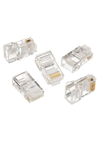 No-name UTP connector 8-pins 8P8C (RJ45) voor CAT5, 100 stuks