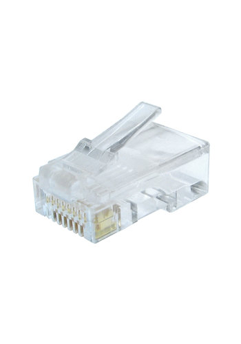 No-name UTP connector 8-pins 8P8C (RJ45) voor CAT6, 100 stuks