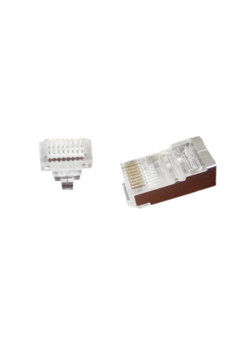 No-name Universal Pass-Through modular FTP Stecker 8P8C, 50 Stück pro Beutel