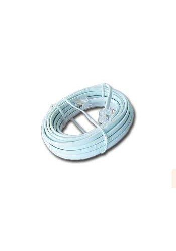 Cablexpert Telefoonkabel 6P4C (RJ11) wit 2 meter