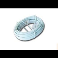 Telefoonkabel 6P4C (RJ11) wit 7.5 meter
