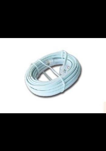 No-name Telefoonkabel 6P4C (RJ11) wit 7.5 meter