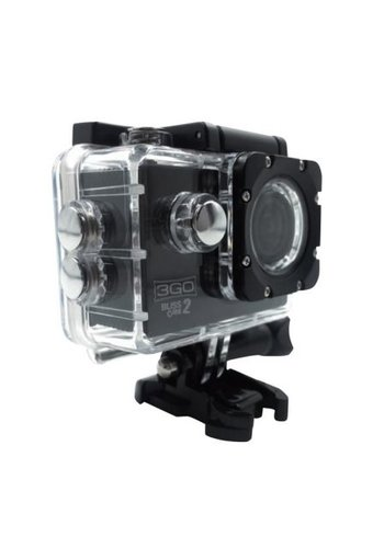 "3Go SPORTS CAMERA  SCREEN 2""/ 5CM -SUBMERSIBLE 30M -"