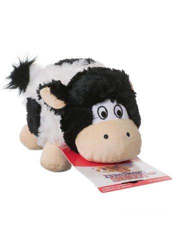 Kong Plüschtier für den Hund - Barnyard Cruncheez - schwarz / weiß