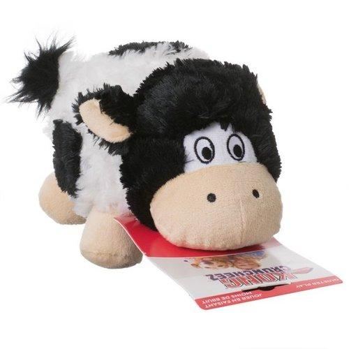 Kong Peluche pour chien - Barnyard Cruncheez - noir / blanc