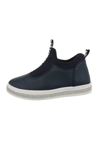 Neckermann Dames laag navy sneakers