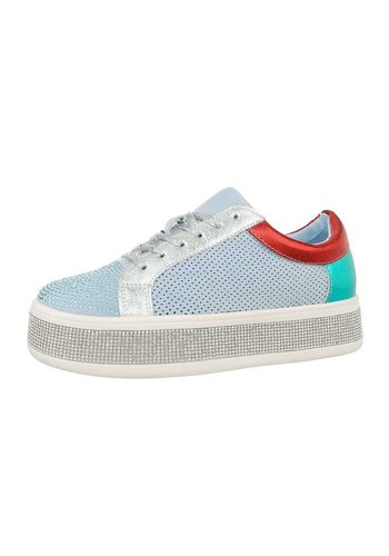 Neckermann Dames laag blauw sneakers