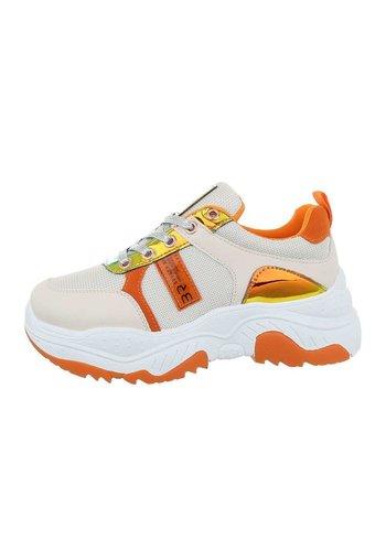 Neckermann Chaussures de sport pour femme blanc-jaune