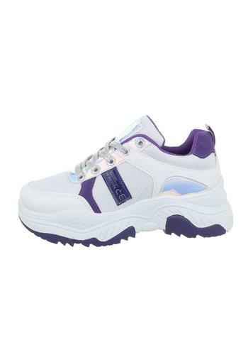 Neckermann Chaussures de sport pour femme blanc violet