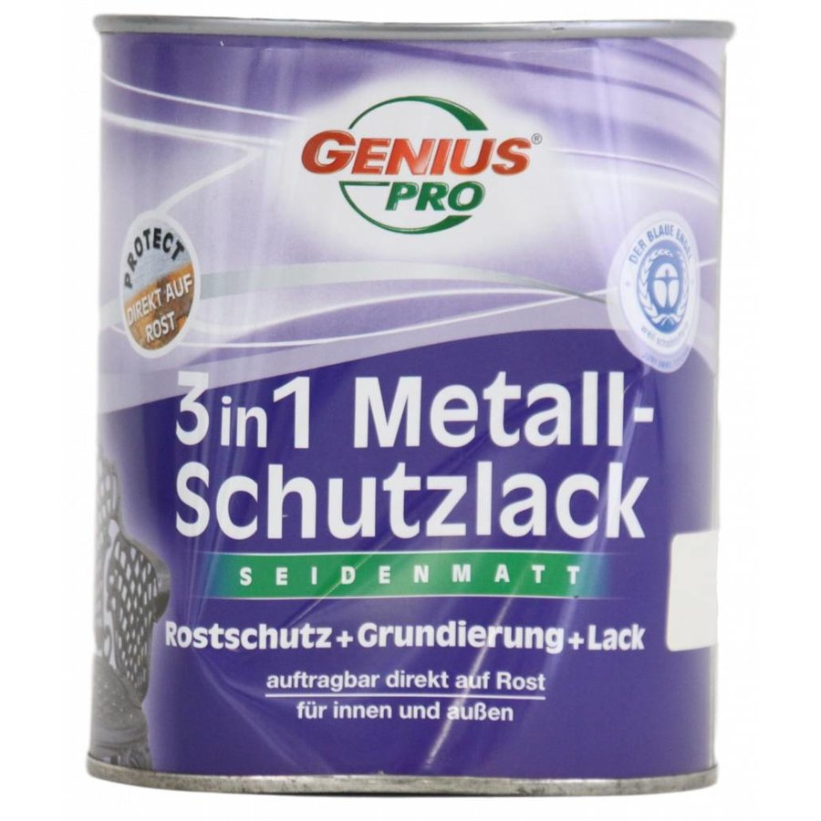 Grundierung - Rostschutz satiniert - 3in1 - braun - 750 ml