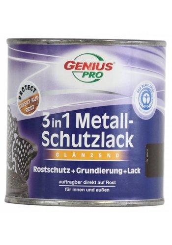 Genius Pro Grondverf - hoogglans - anti roest - 3in1 - zilvergrijs - 750 ml