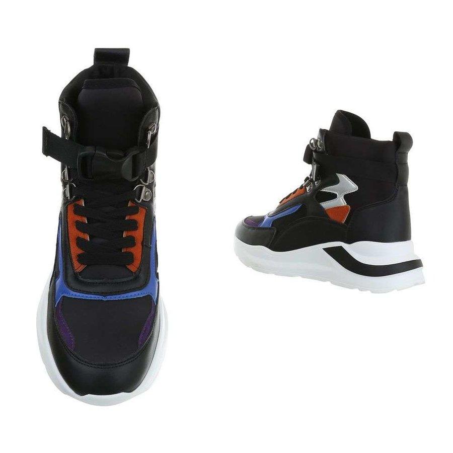 dames sneakers hi zwart CB-19069