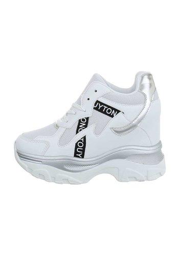 Neckermann dames sneakers hi wit 99032