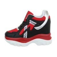 dames sneakers hi rood 99032
