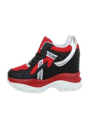 Neckermann dames sneakers hi rood 99032