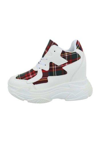 Neckermann dames sneakers hi rood BL1530