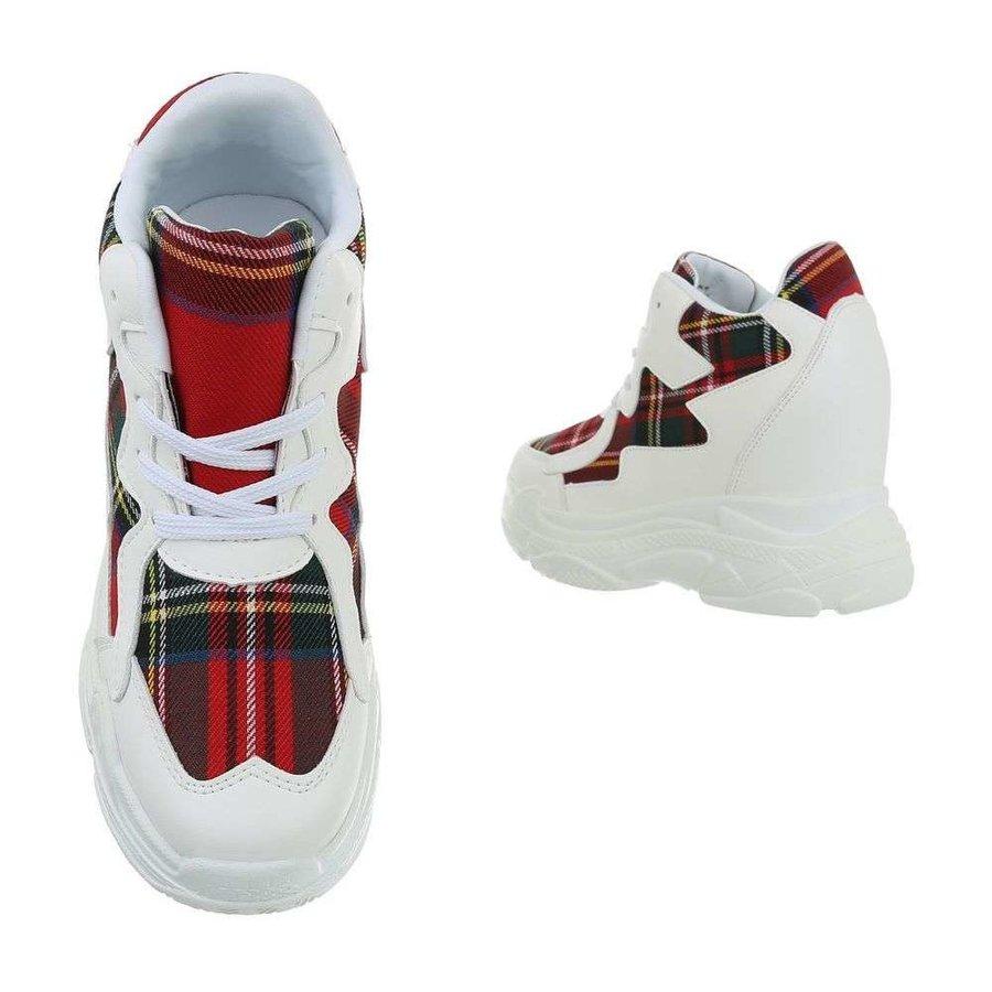 dames sneakers hi rood BL1530