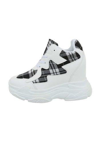 Neckermann dames sneakers hi grijze BL1530