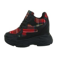 dames sneakers hi rood BL1529