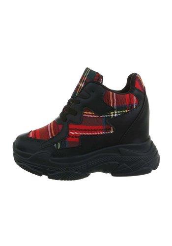 Neckermann dames sneakers hi rood BL1529