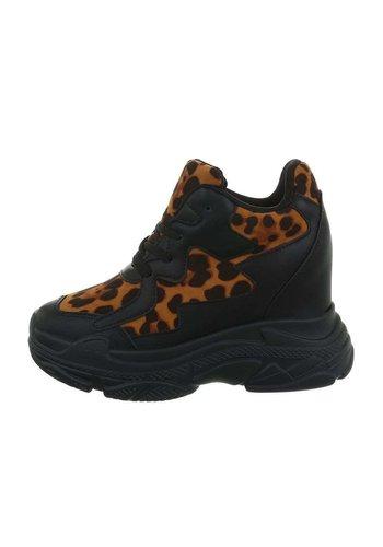 Neckermann dames sneakers hi camel BL1529