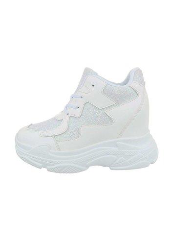 Neckermann dames sneakers hi witte BL1528