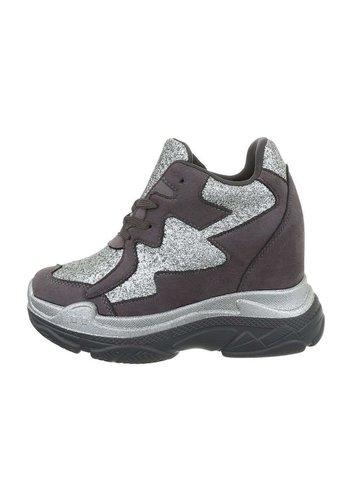 Neckermann dames sneakers hi grijze BL1528
