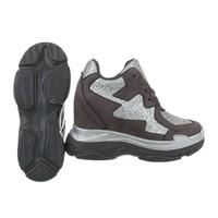 baskets femmes salut gris BL1528