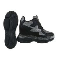dames sneakers hi zwart BL1528