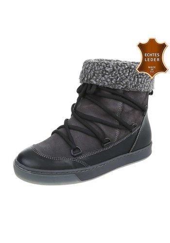 Neckermann Chaussures décontractées en cuir pour dames noir 2220