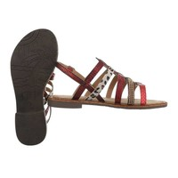 Sandales flash femme rouges 616-2
