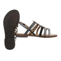 Sandales flash femme noires 616-2