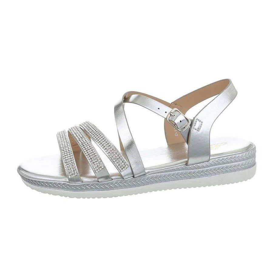 Sandales flash femme argent D-120