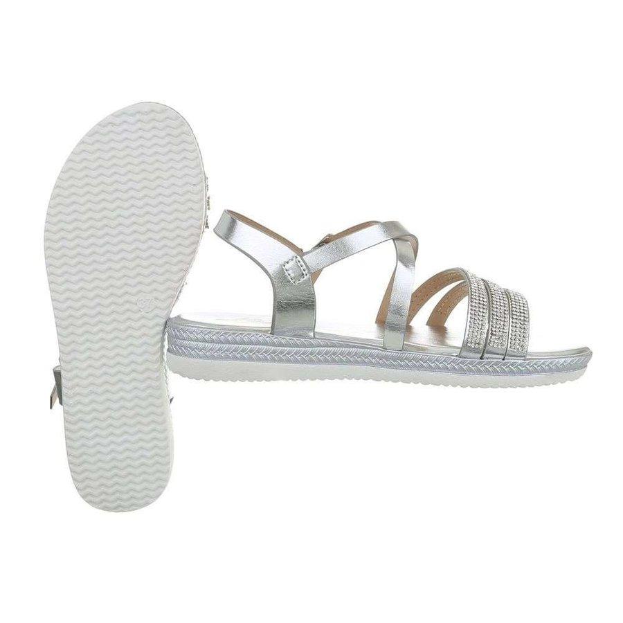 Damen Flash Sandalen Silber D-120