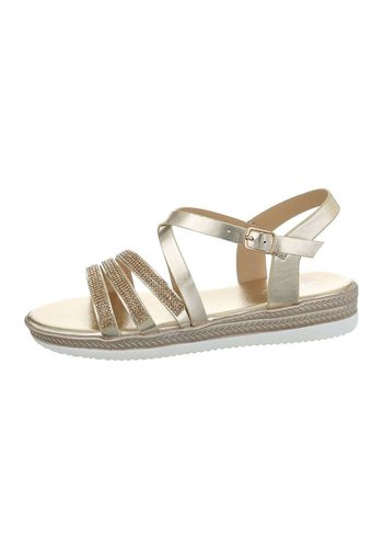 Neckermann Dames flash sandalen goud D-120