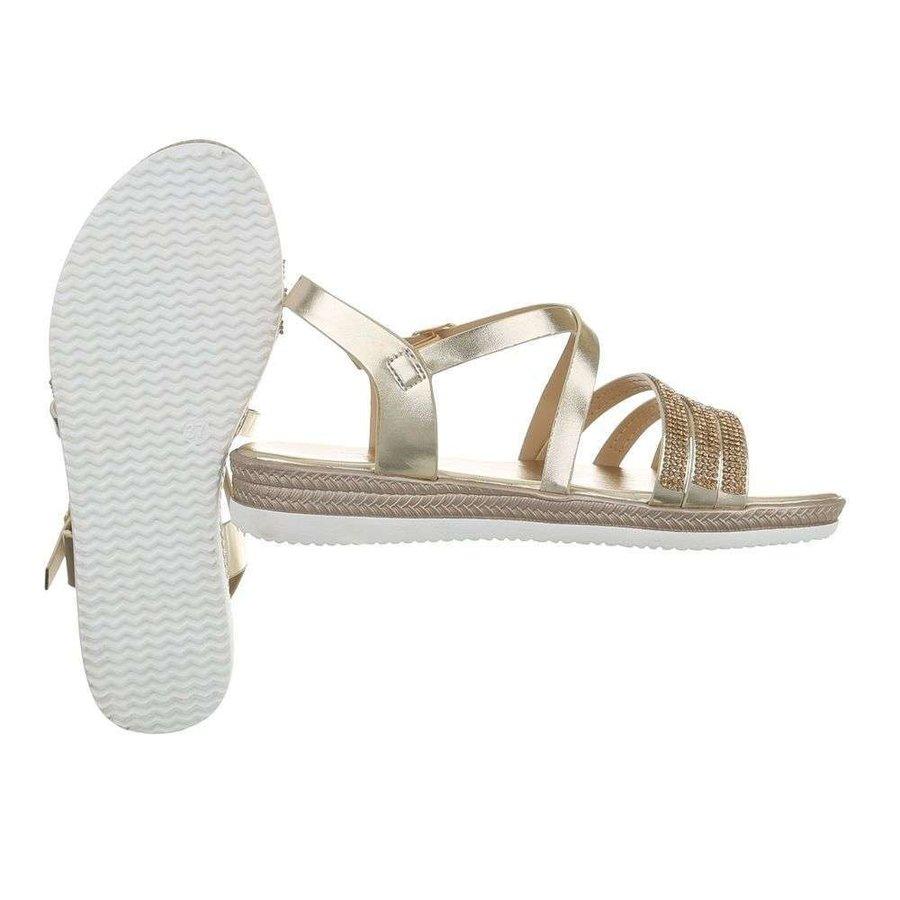 Sandales flash femme doré D-120