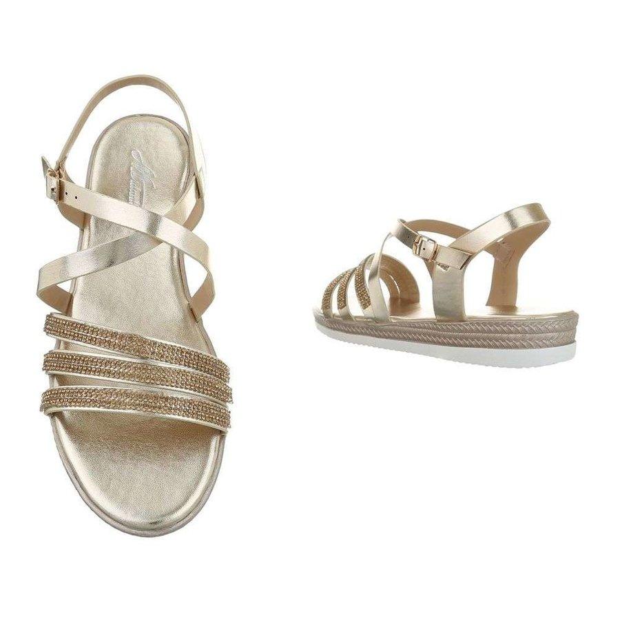 Dames flash sandalen goud D-120