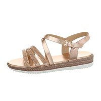 Dames flash sandales champagne D-120