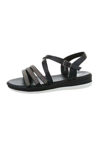 Neckermann sandales flash femme noires D-120