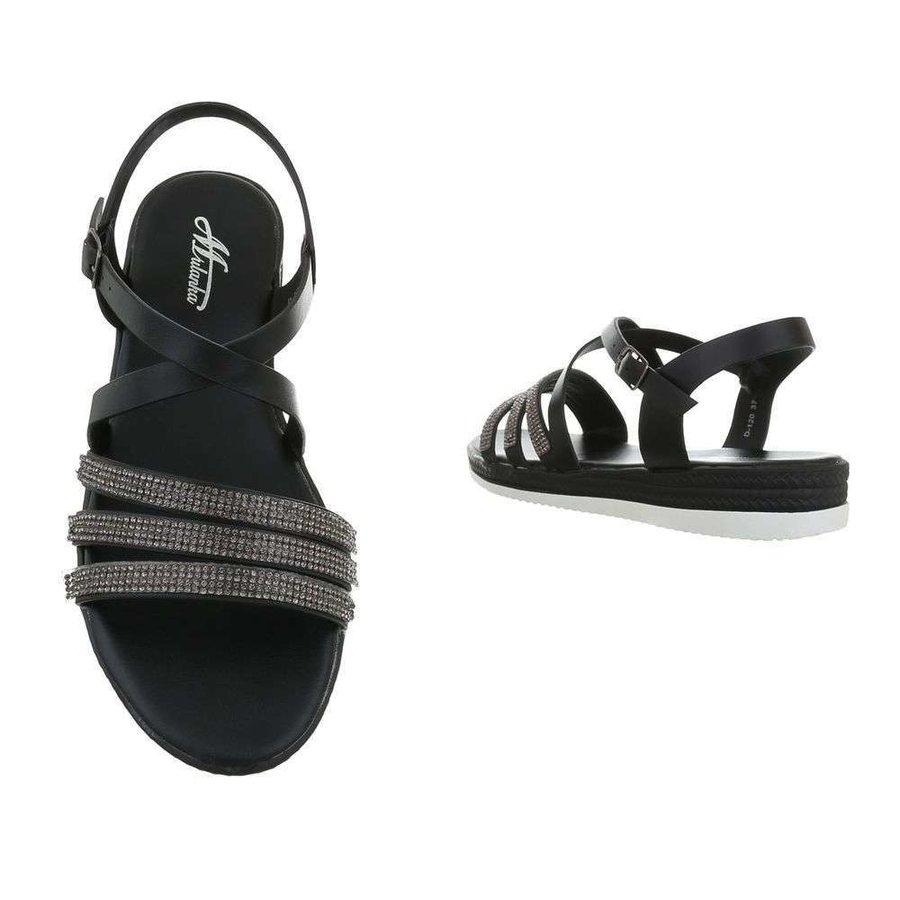 Damen Flash Sandalen schwarz D-120